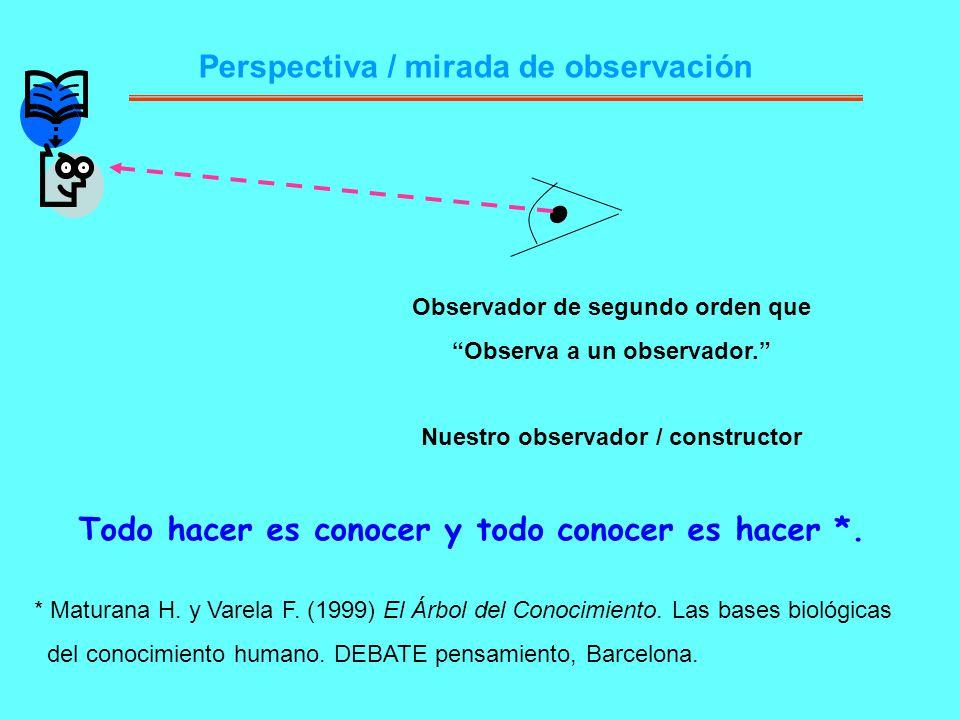 Perspectiva / mirada de observación