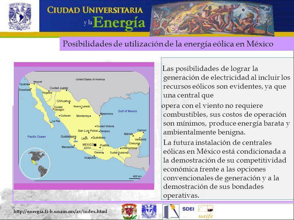 Posibilidades de utilización de la energía eólica en México