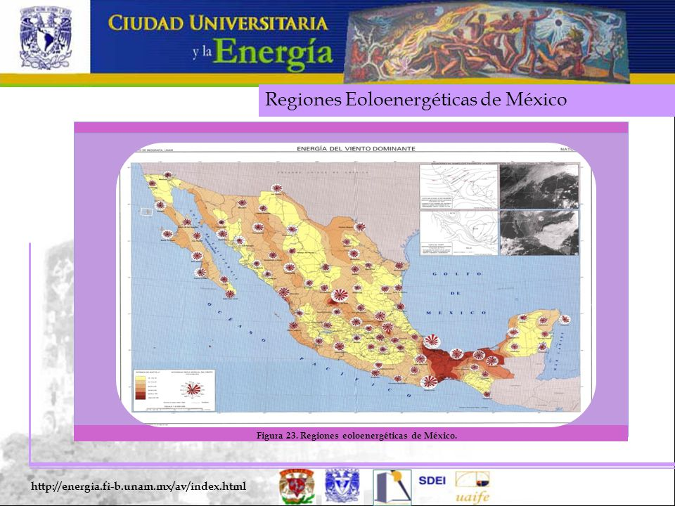 Regiones Eoloenergéticas de México