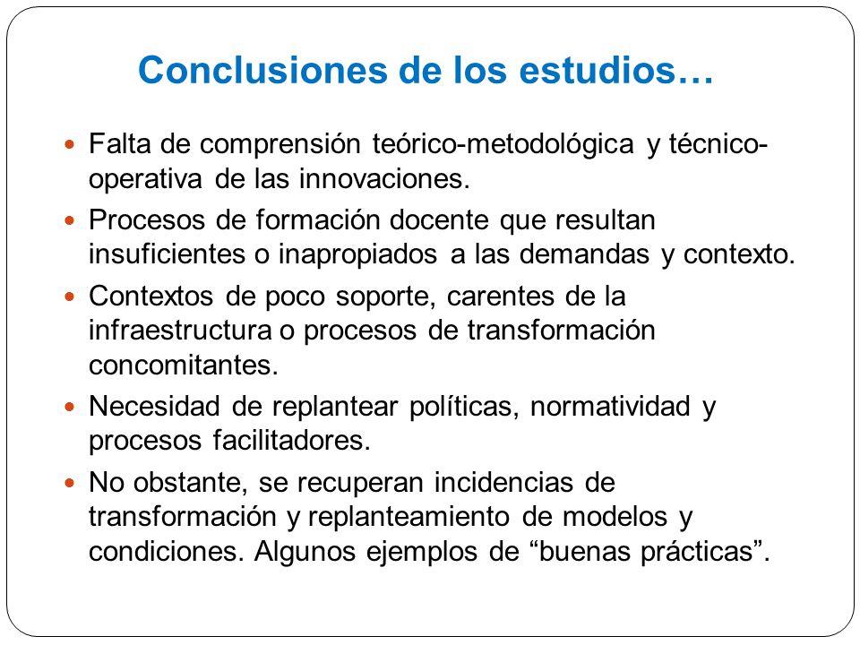 Conclusiones de los estudios…