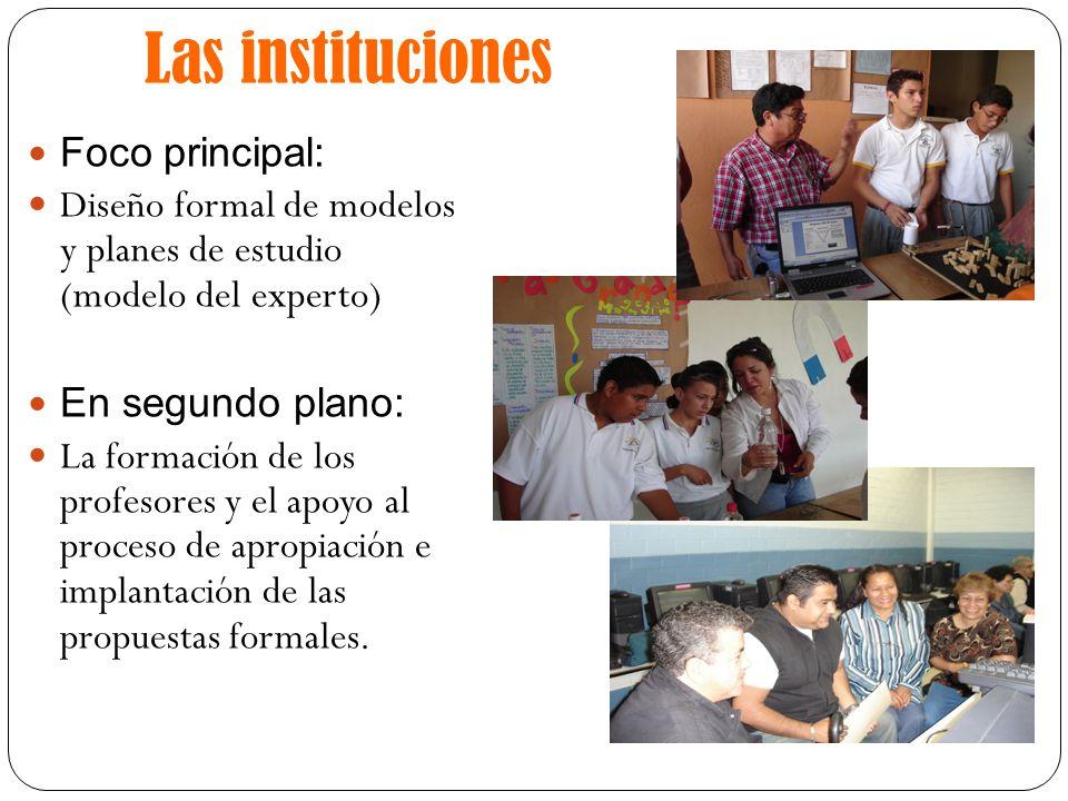 Las instituciones Foco principal: