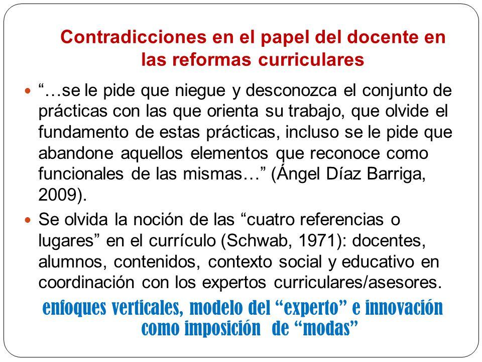 Contradicciones en el papel del docente en las reformas curriculares