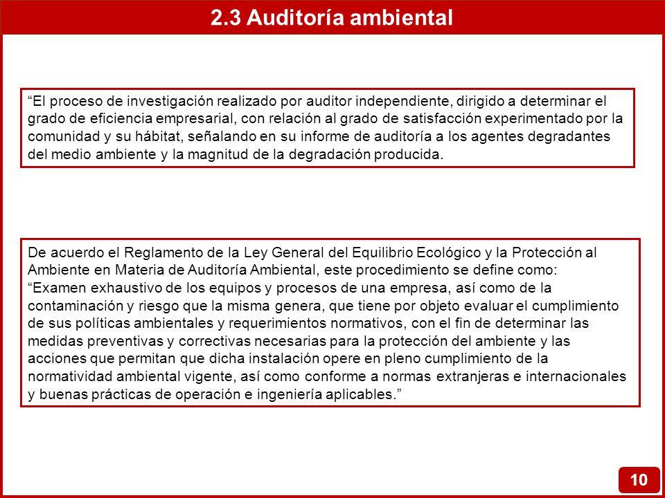 2.3 Auditoría ambiental