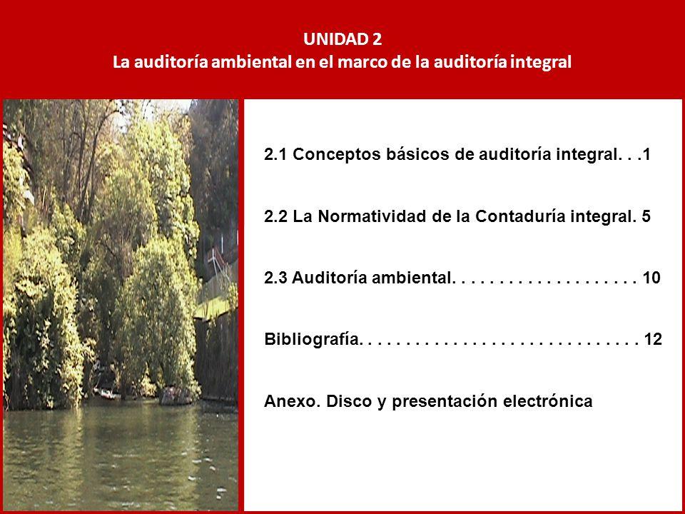 La auditoría ambiental en el marco de la auditoría integral