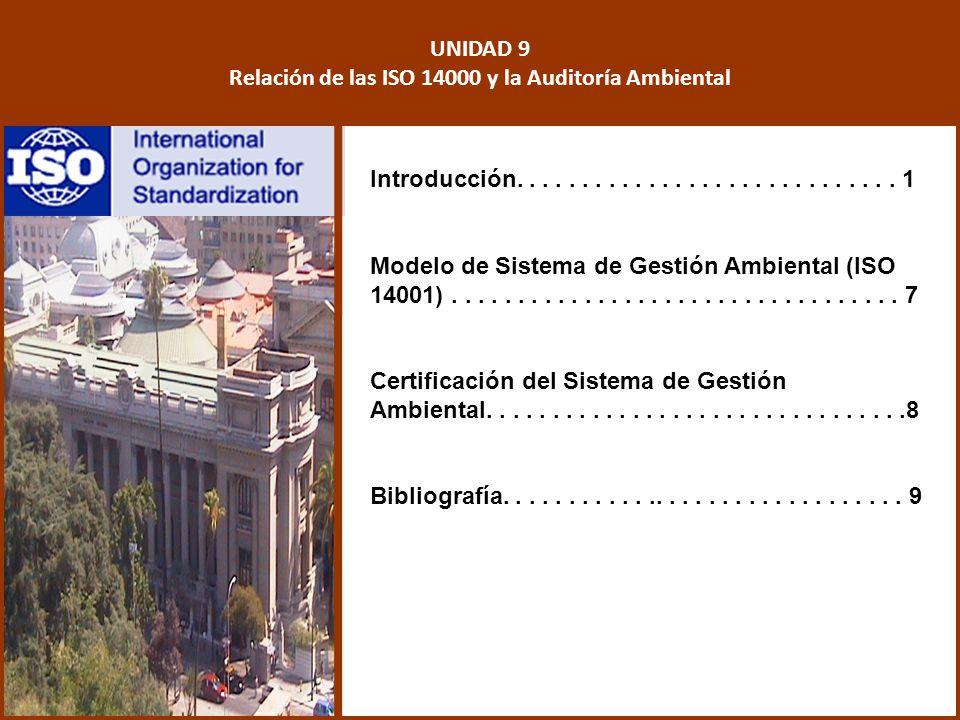 Relación de las ISO 14000 y la Auditoría Ambiental