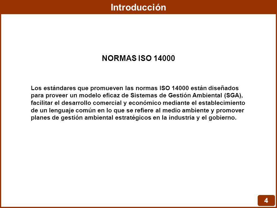 Introducción NORMAS ISO 14000 4