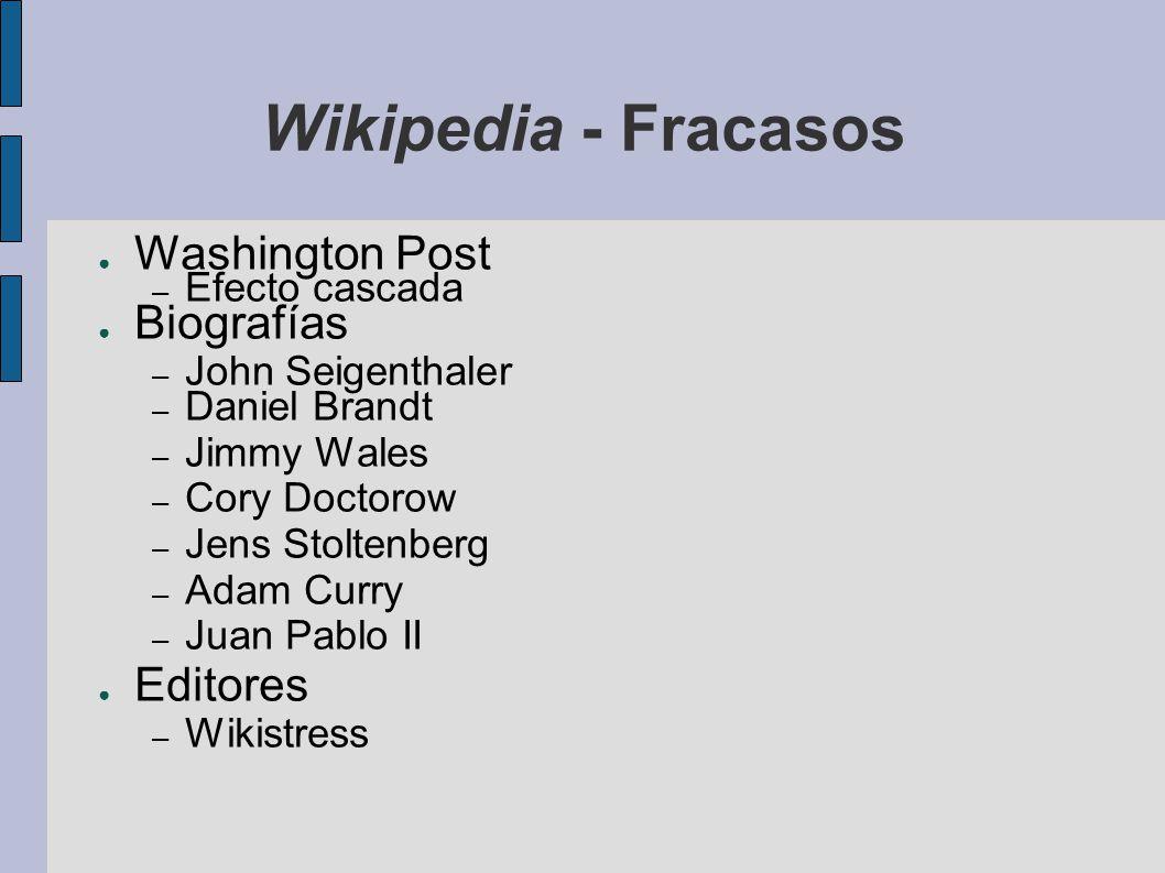 Wikipedia - Fracasos Washington Post Biografías Editores