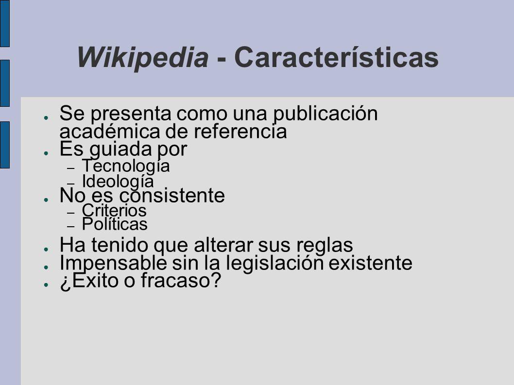 Wikipedia - Características