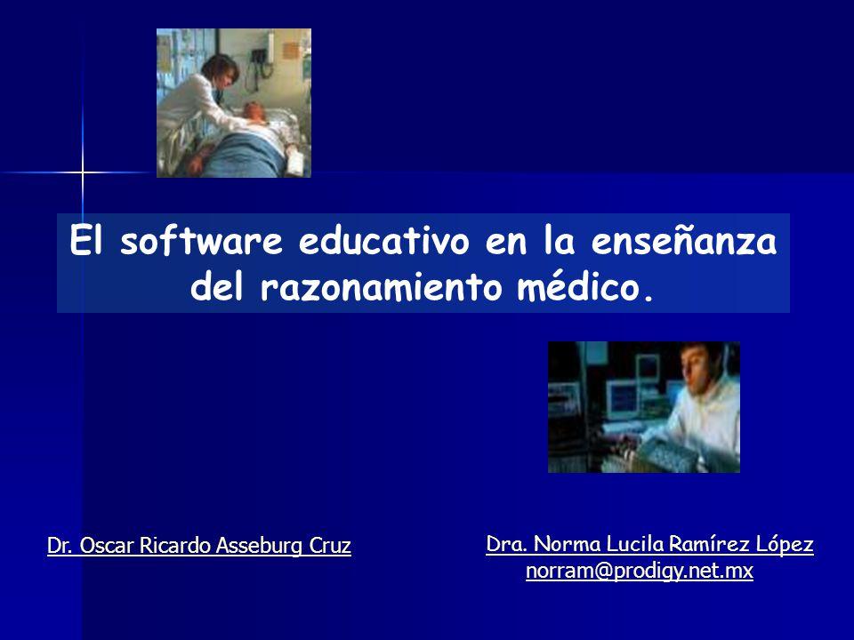 El software educativo en la enseñanza del razonamiento médico.
