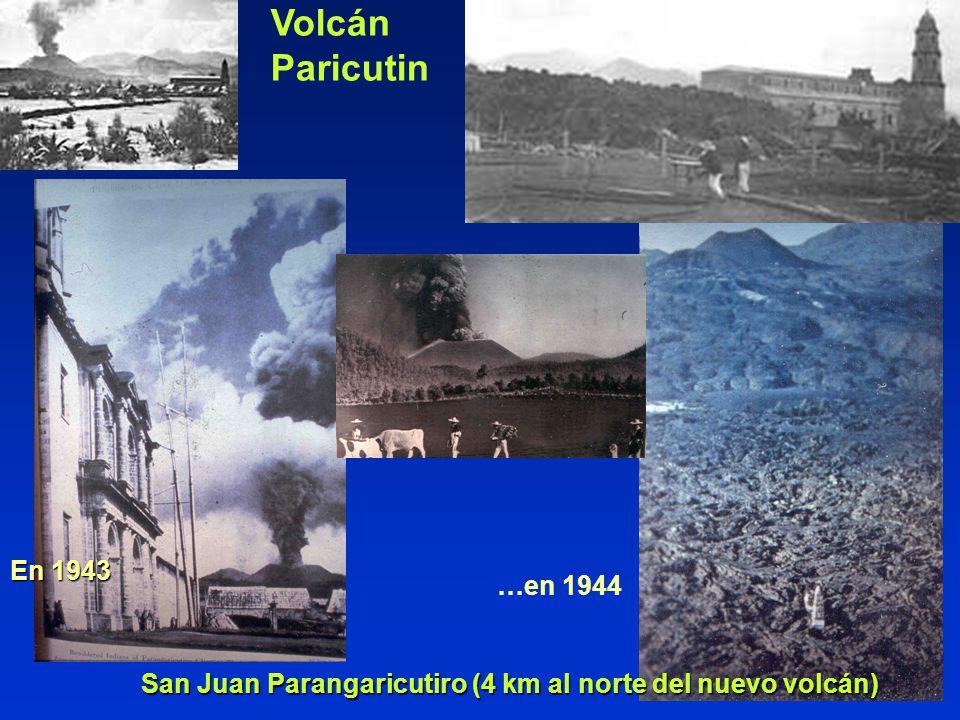 San Juan Parangaricutiro (4 km al norte del nuevo volcán)