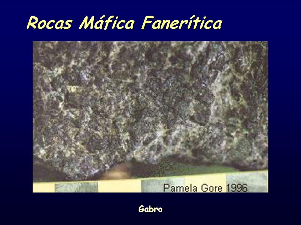 Rocas Máfica Fanerítica