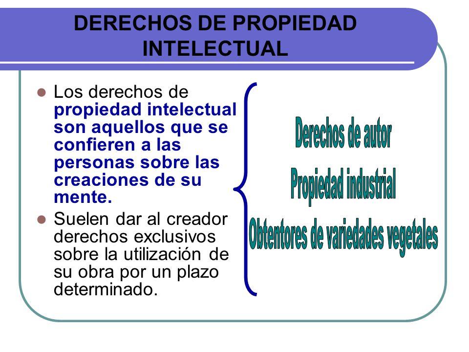 DERECHOS DE PROPIEDAD INTELECTUAL