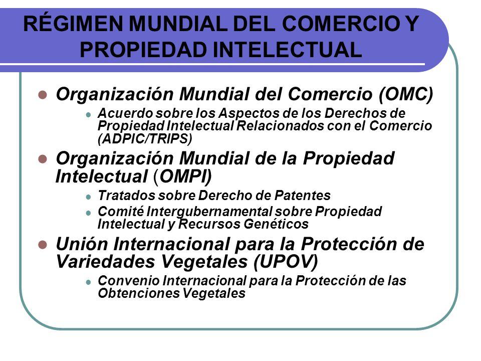 RÉGIMEN MUNDIAL DEL COMERCIO Y PROPIEDAD INTELECTUAL