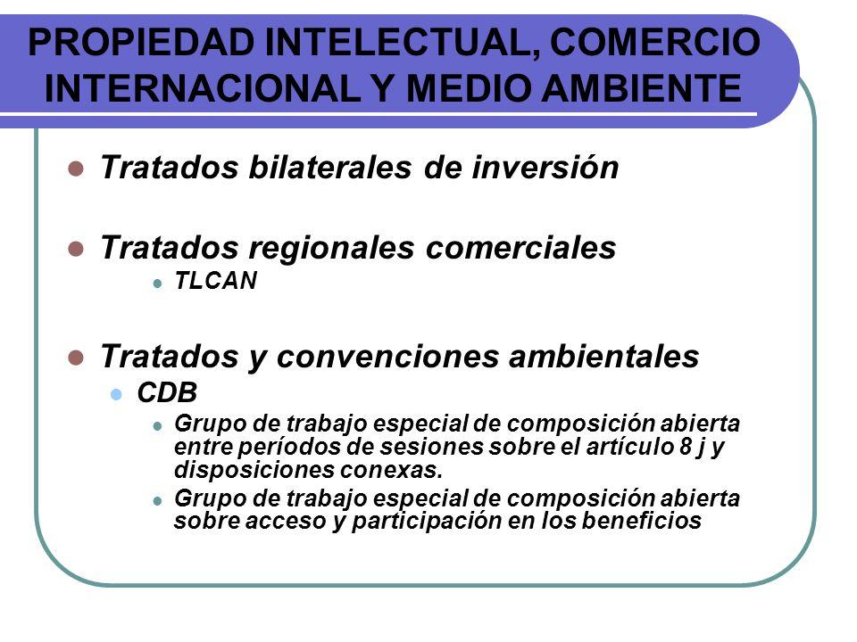 PROPIEDAD INTELECTUAL, COMERCIO INTERNACIONAL Y MEDIO AMBIENTE