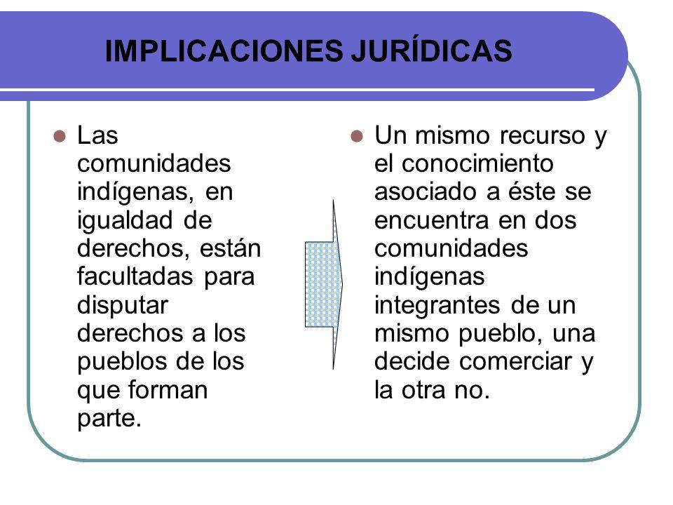 IMPLICACIONES JURÍDICAS