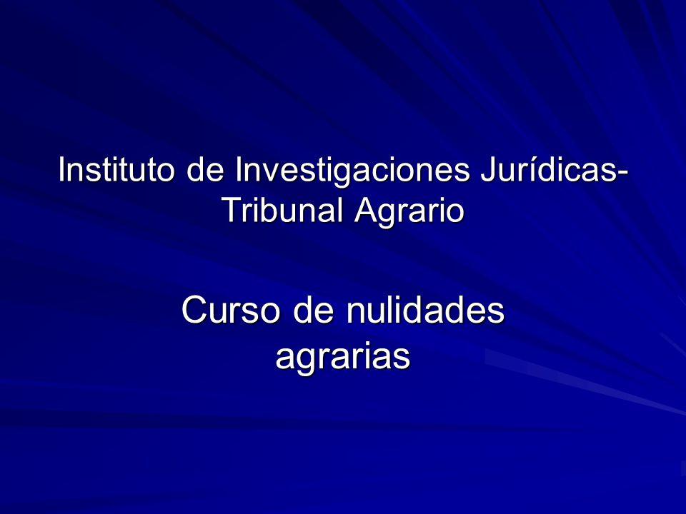 Instituto de Investigaciones Jurídicas-Tribunal Agrario