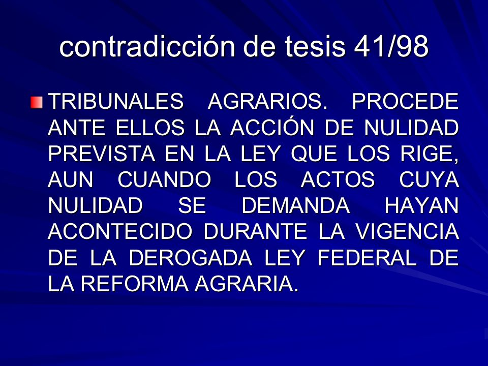 contradicción de tesis 41/98