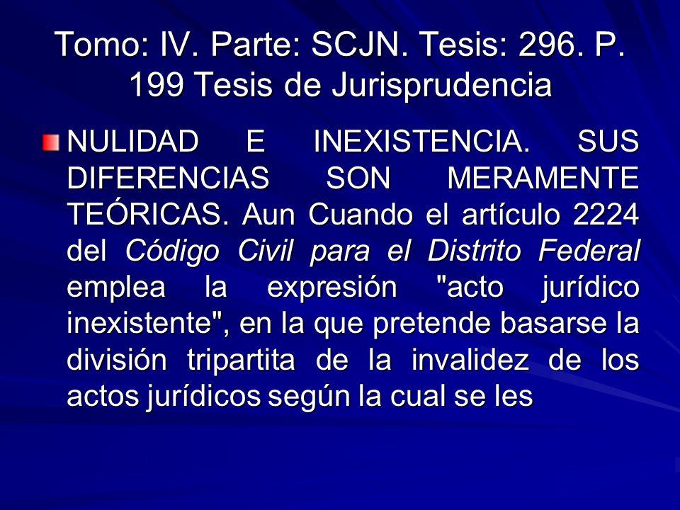 Tomo: IV. Parte: SCJN. Tesis: 296. P. 199 Tesis de Jurisprudencia