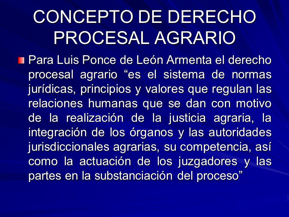 CONCEPTO DE DERECHO PROCESAL AGRARIO