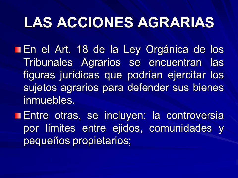 LAS ACCIONES AGRARIAS