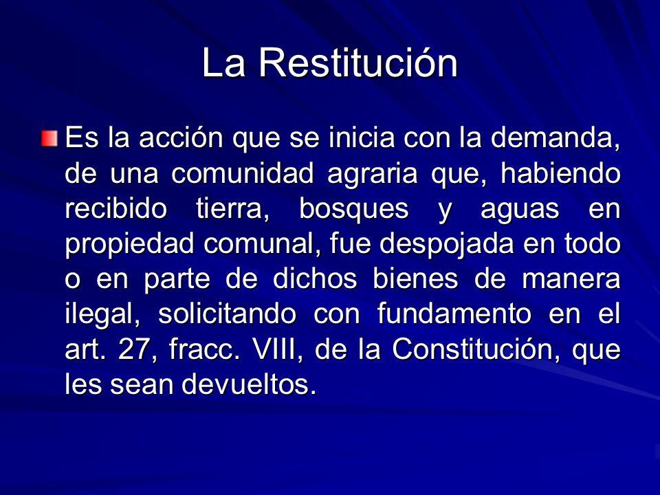 La Restitución