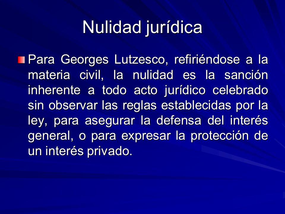 Nulidad jurídica
