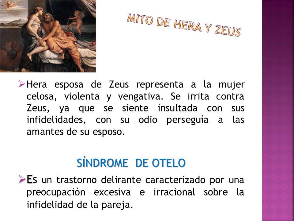 Mito de hera y zeus SÍNDROME DE OTELO