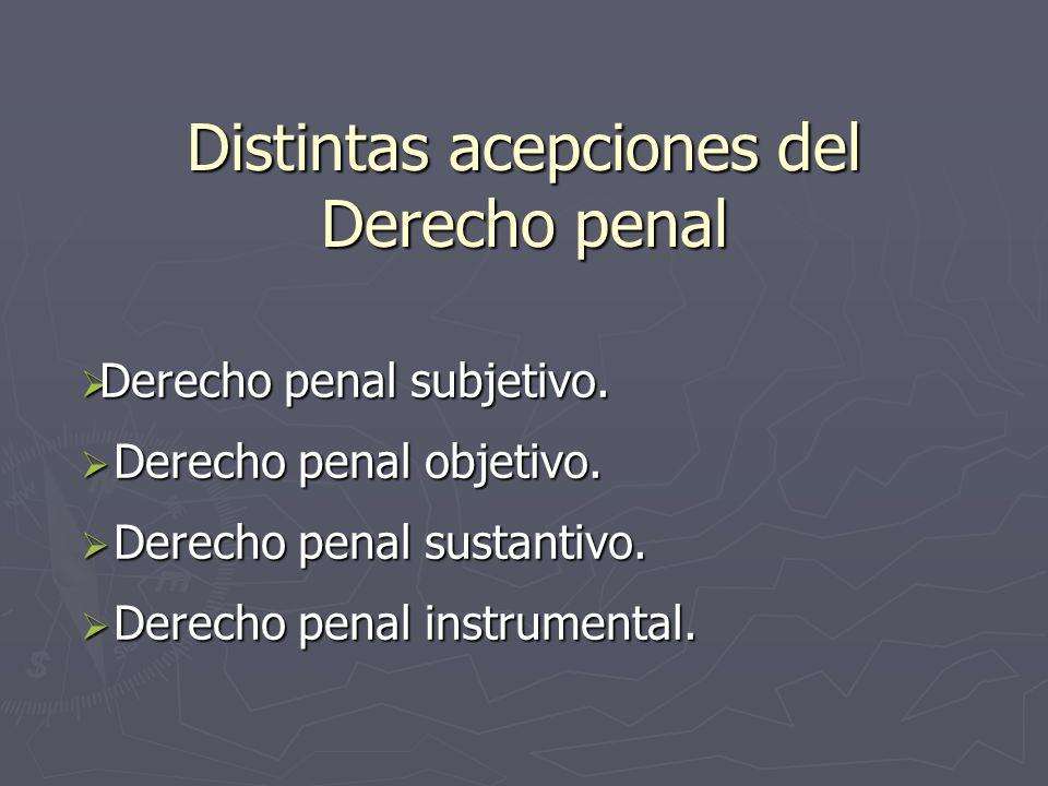 Distintas acepciones del Derecho penal