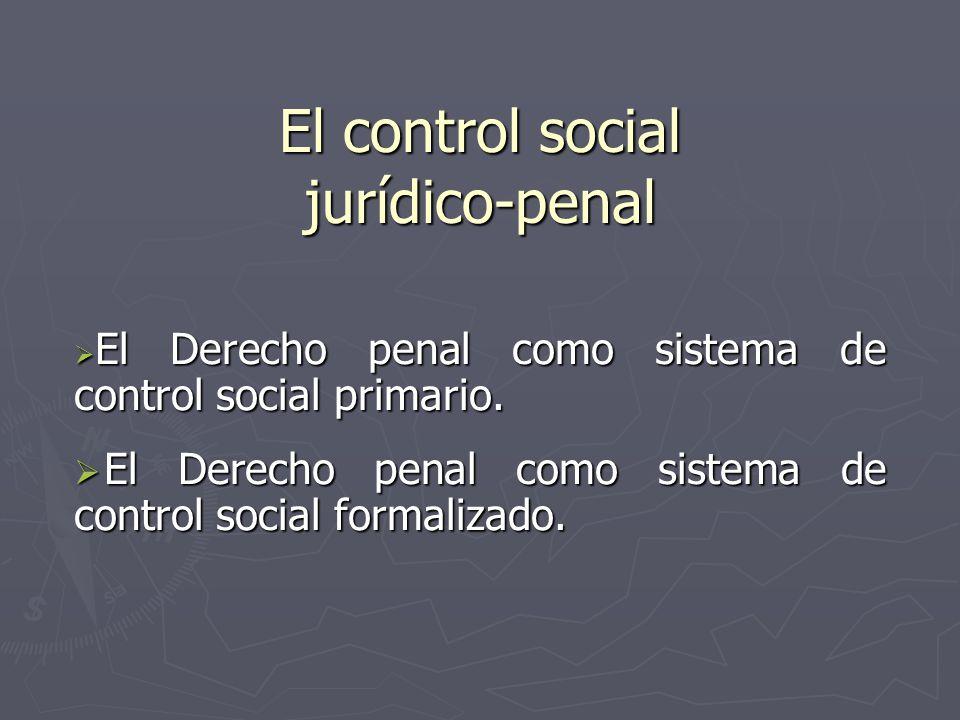 El control social jurídico-penal