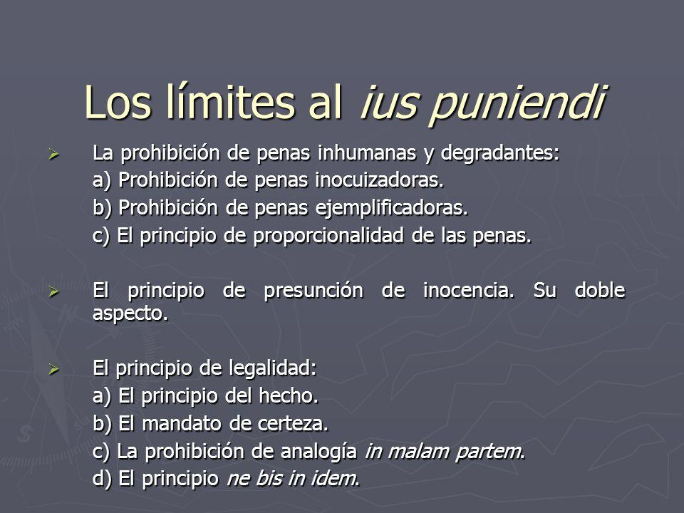 Los límites al ius puniendi