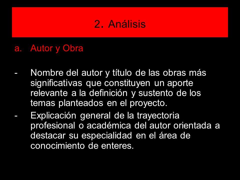 2. Análisis Autor y Obra.