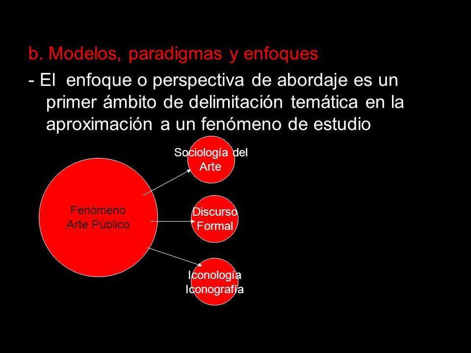 b. Modelos, paradigmas y enfoques