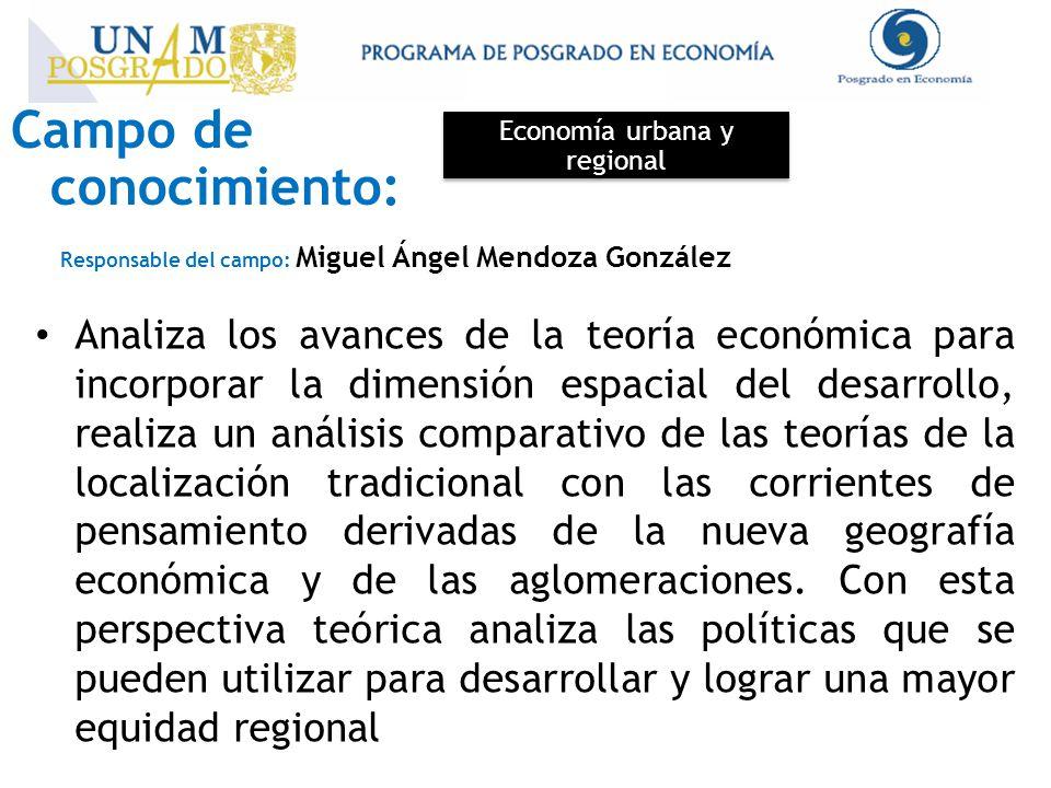Economía urbana y regional