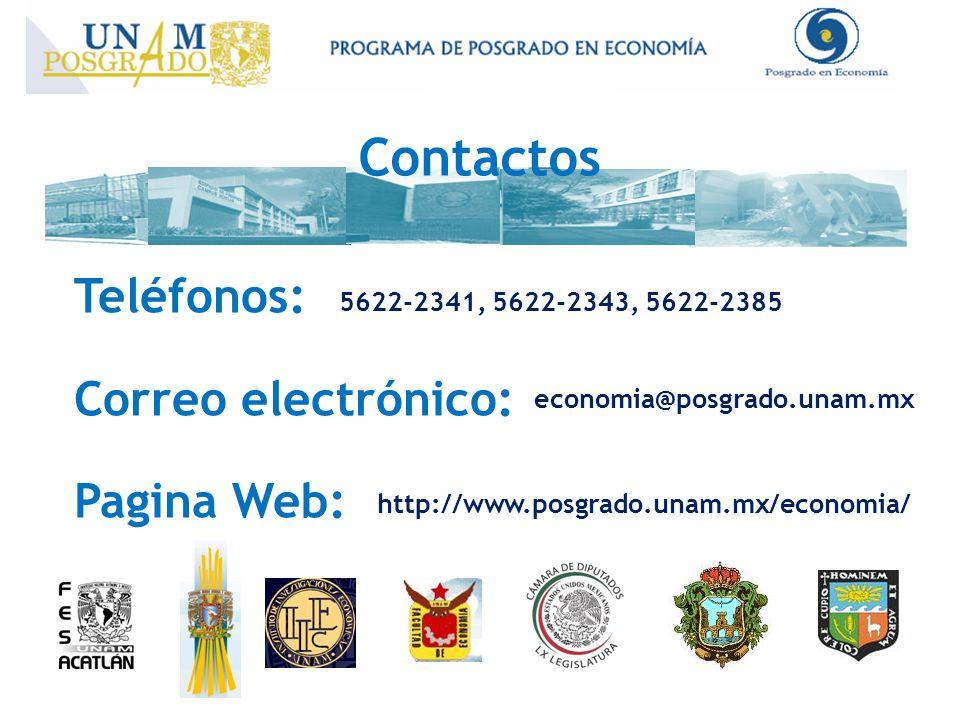 Contactos Teléfonos: Correo electrónico: Pagina Web: