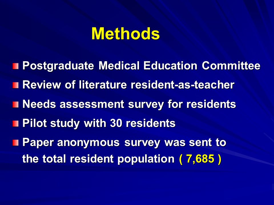 Methods Postgraduate Medical Education Committee