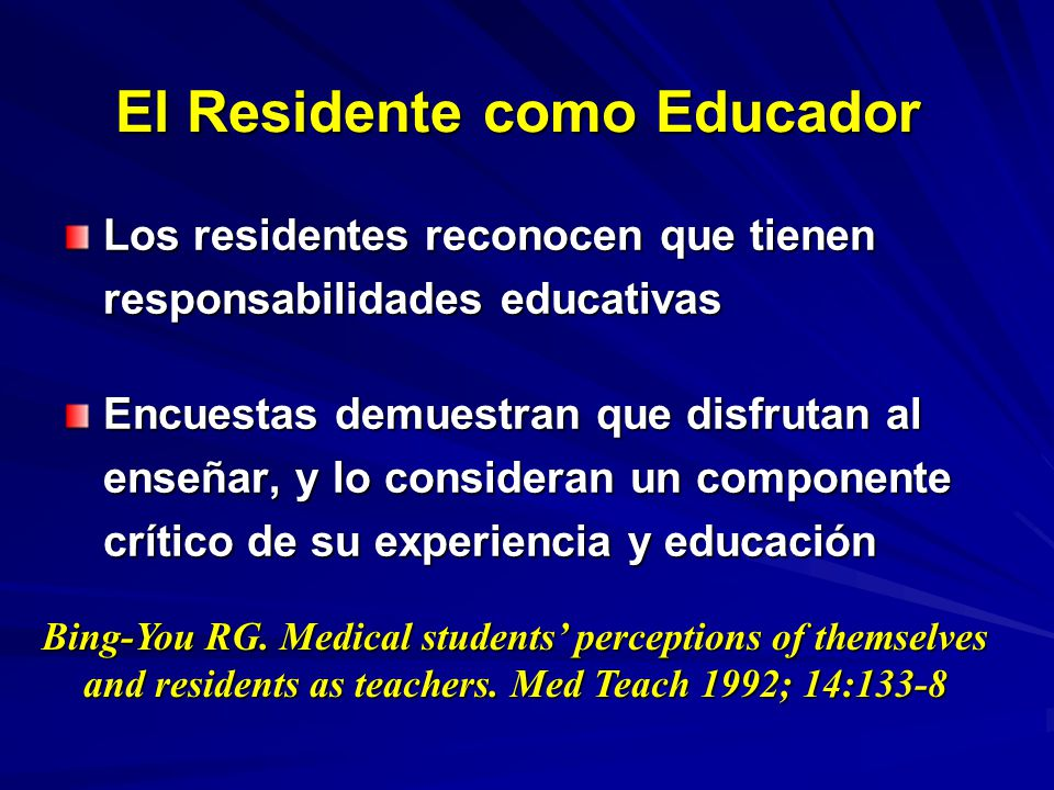 El Residente como Educador