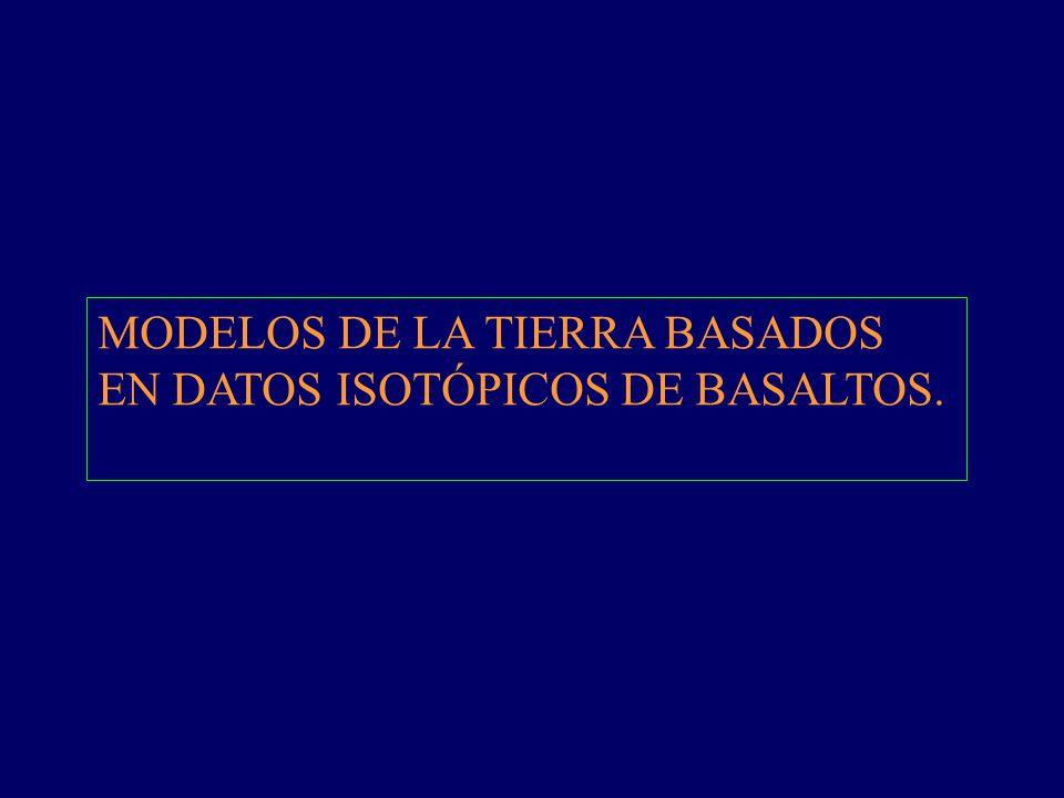 MODELOS DE LA TIERRA BASADOS EN DATOS ISOTÓPICOS DE BASALTOS.