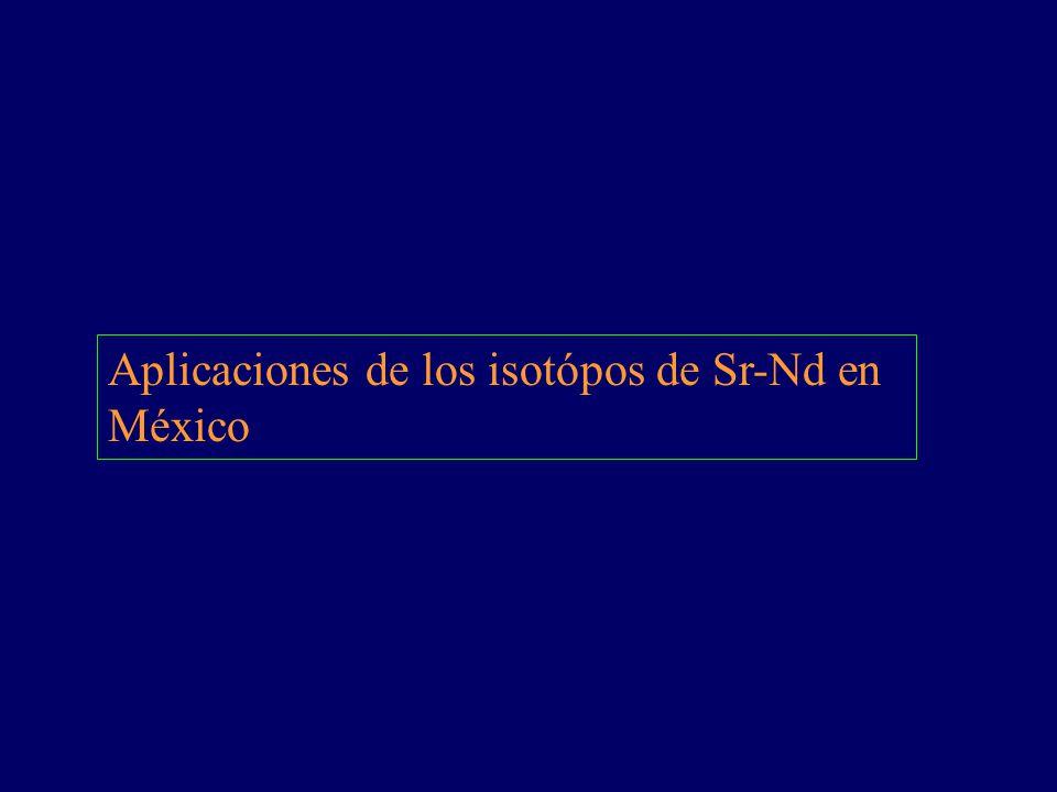 Aplicaciones de los isotópos de Sr-Nd en México