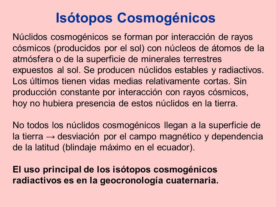 Isótopos Cosmogénicos
