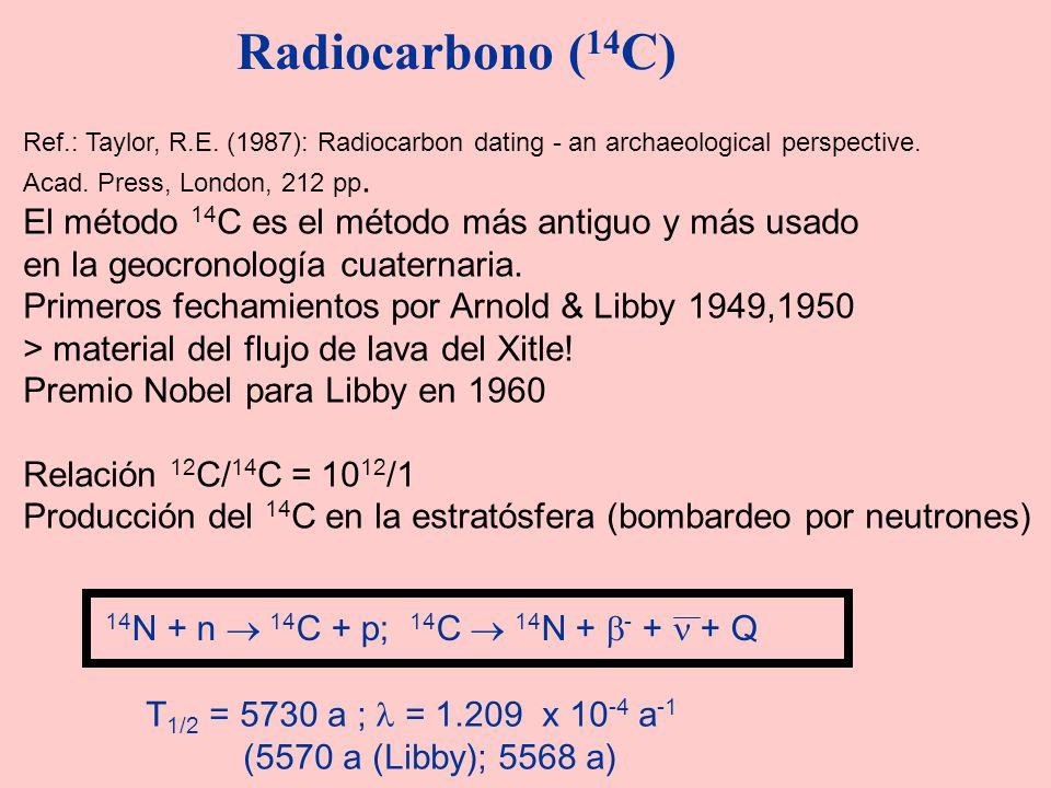 Radiocarbono (14C) El método 14C es el método más antiguo y más usado