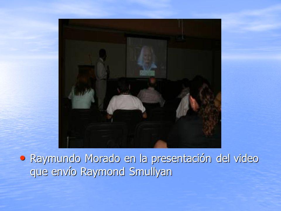 Raymundo Morado en la presentación del video que envío Raymond Smullyan