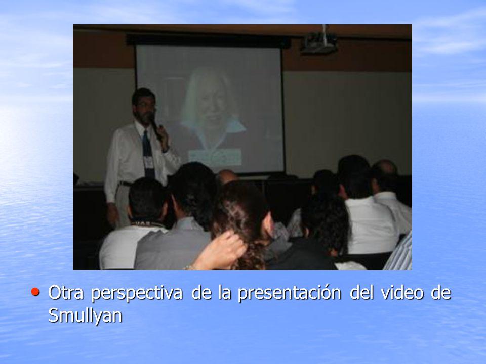 Otra perspectiva de la presentación del video de Smullyan
