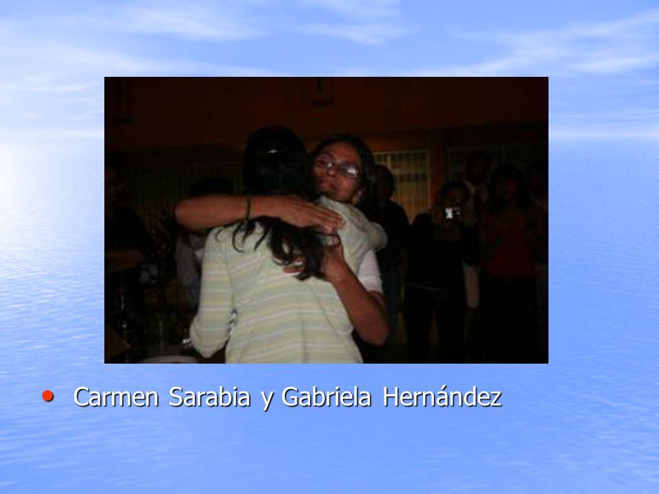 Carmen Sarabia y Gabriela Hernández