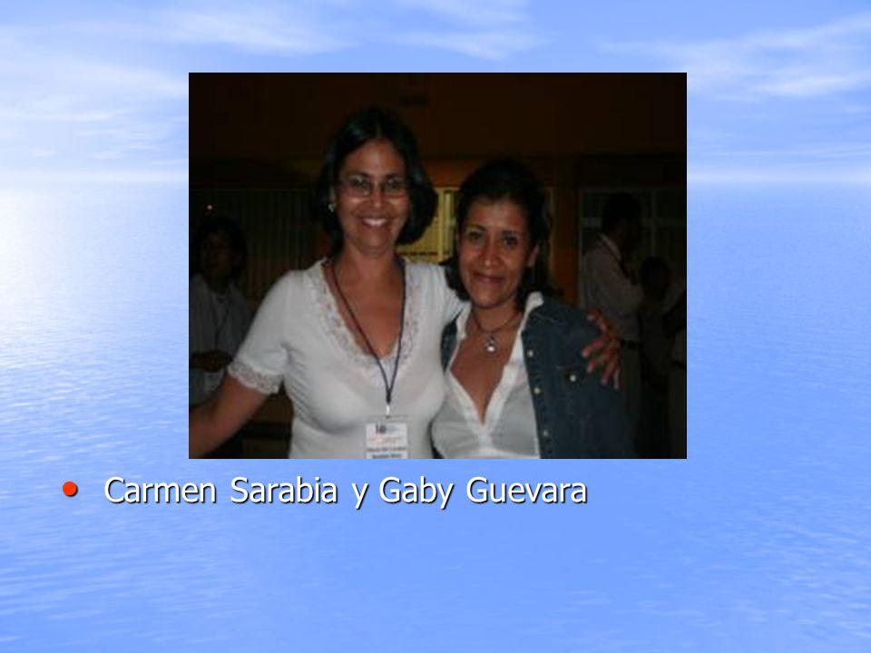 Carmen Sarabia y Gaby Guevara
