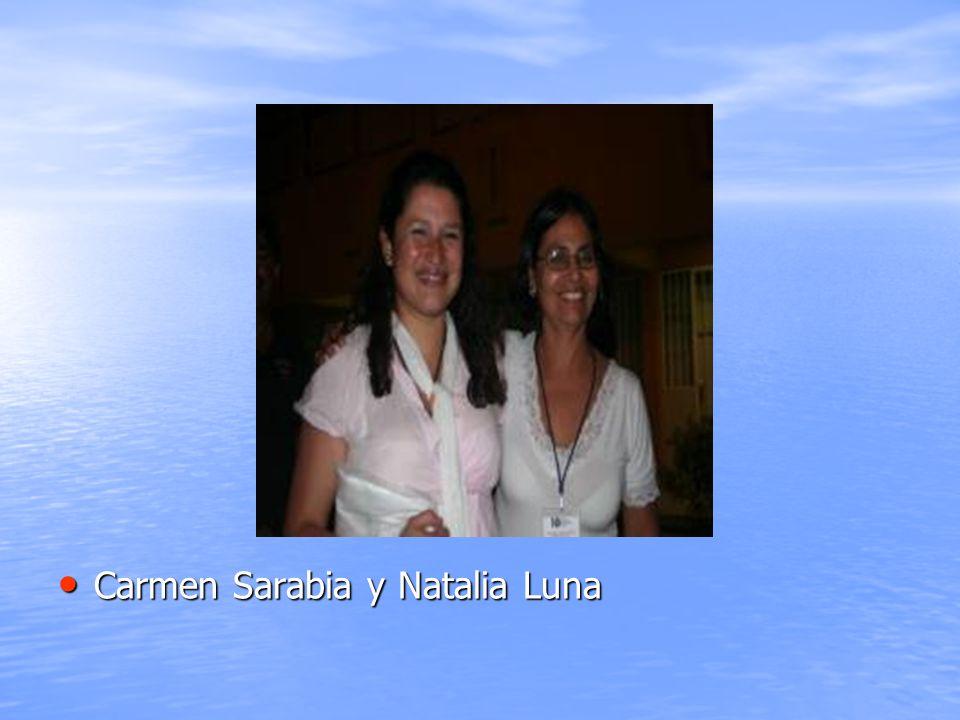 Carmen Sarabia y Natalia Luna