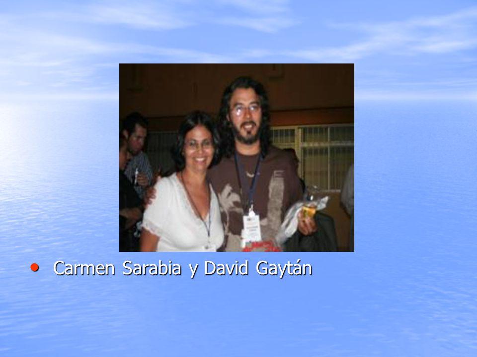 Carmen Sarabia y David Gaytán