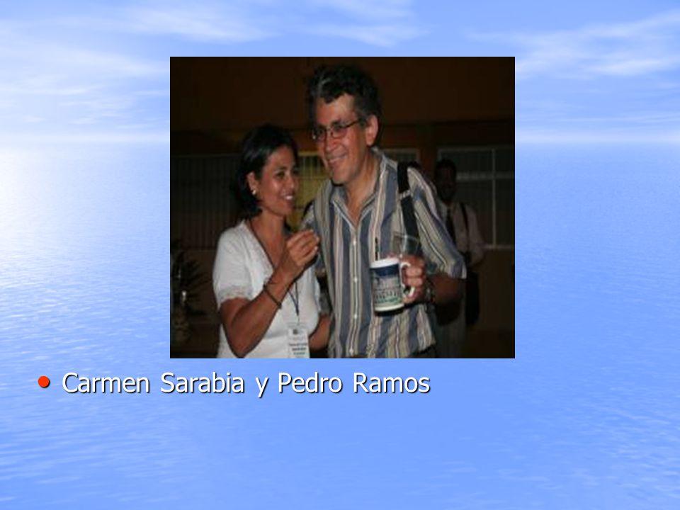 Carmen Sarabia y Pedro Ramos