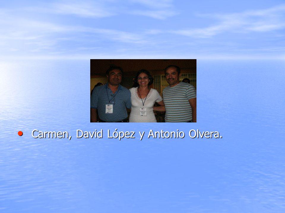 Carmen, David López y Antonio Olvera.