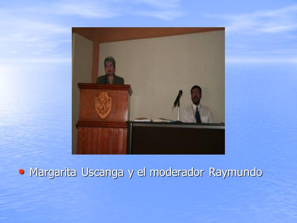 Margarita Uscanga y el moderador Raymundo