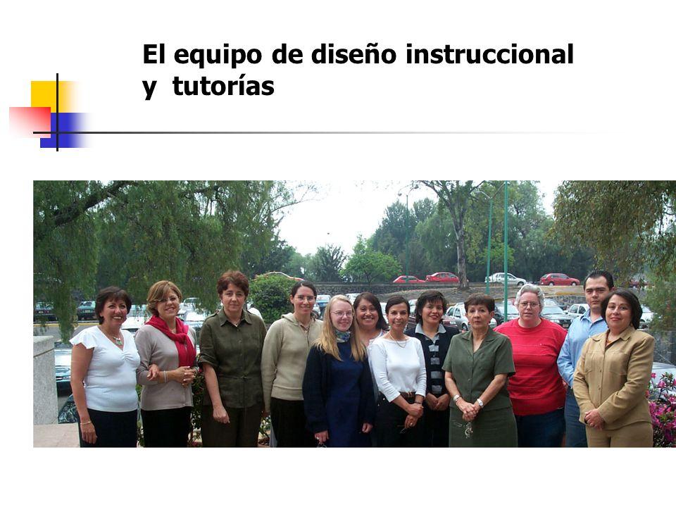 El equipo de diseño instruccional y tutorías